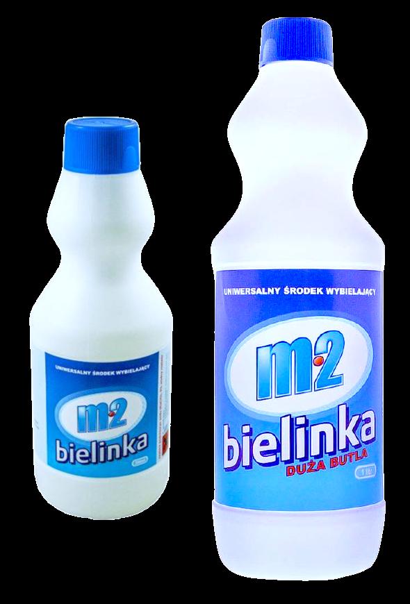 """zdjęcie przedstawiające produkt """"m2 bielinka duża"""" oraz """"m2 bielinka, bielinka butelka 1l oraz butelka 0,5l"""